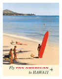 Fly Pan American to Hawaii - Pan American Airways Giclée-tryk af Kronfeld