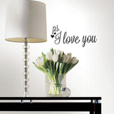 P.S. I Love You with Heart Single Sheet Peel and Stick Wall Decals Wall Decal