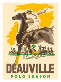 Deauville Polo Season - Normandy, France Print by Michel Jacquot