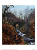 Ghyll Beck, Yorkshire, Early Spring Giclee Print by John Atkinson Grimshaw