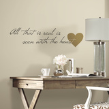 Heart Quote Peel and Stick Wall Decals Wall Decal