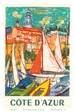 Cote D'Azur - Menton, France Posters tekijänä Roger Marcel Limouse