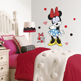 Minnie Rocks the Dots Peel and Stick Giant Wall Decals Wall Decal