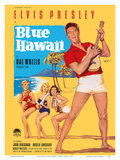 Elvis Presley in Blue Hawaii Print by Rolf Goetze
