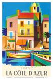Visitez (Visit) La Cote D'Azur - France - French Riviera Plakater af Jacques Nathan-Garamond
