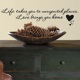 Love Brings You Home Single Sheet Peel and Stick Wall Decals Vinilo decorativo