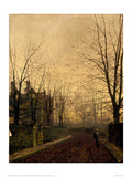 Gold of Autumn Giclee Print by John Atkinson Grimshaw