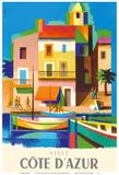 Visit Cote D'Azur - France - The French Riviera Plakat af Jacques Nathan-Garamond