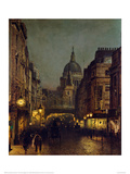 St. Paul's From Ludgate Circus Giclee Print by John Atkinson Grimshaw