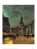 Blackman Street, Borough, London Giclee Print by John Atkinson Grimshaw