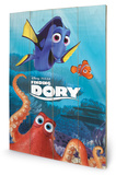 Finding Dory - Characters Wood Sign Træskilt