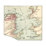 Map of Rio De Janeiro (C. 1900), Maps Giclee Print by  Encyclopaedia Britannica