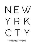 Ciudad de Nueva York Lámina giclée por Pop Monica