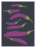 Eggplants Prints by Jorey Hurley