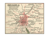 Map of Brussels (C. 1900), Maps Giclee Print by  Encyclopaedia Britannica
