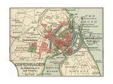 Map of Copenhagen (C. 1900), Maps Giclee Print by  Encyclopaedia Britannica