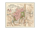 Map of Jerusalem (C. 1900), Maps Giclee Print by  Encyclopaedia Britannica