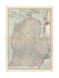 Map of Michigan, Southern Part Giclee Print by  Encyclopaedia Britannica