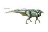 Parasaurolophus, Dinosaurs Poster by  Encyclopaedia Britannica