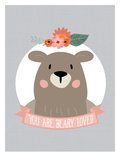 You Are Beary Loved Art by Amy Brinkman