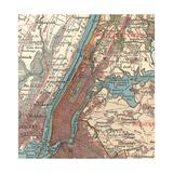 Manhattan (C. 1900) Gicléedruk van  Encyclopaedia Britannica