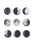 Moon Phases Watercolor I Plakater af Samantha Ranlet