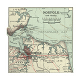 Map of Norfolk Giclee Print by  Encyclopaedia Britannica