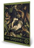 Transport For London - Kew Gardens, 1934 Wood Sign Træskilt
