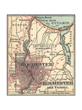 Map of Rochester (C. 1900), Maps Giclee Print by  Encyclopaedia Britannica