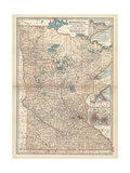 Map of Minnesota Giclee Print by  Encyclopaedia Britannica