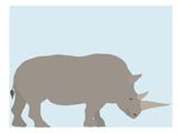 Rhino Posters by Jorey Hurley