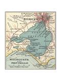 Map of Melbourne (C. 1900), Maps Gicléedruk van  Encyclopaedia Britannica