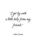 John Lennon-Friends Affiche par Pop Monica