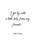 John Lennon-Friends Poster autor Pop Monica