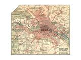 Map of Berlin (C. 1900), Maps Gicléedruk van  Encyclopaedia Britannica