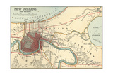 Map of New Orleans (C. 1900), Maps Giclee Print by  Encyclopaedia Britannica