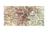 Detail of Boston (C. 1900), Maps Gicléedruk van  Encyclopaedia Britannica