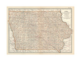 Plate 101. Map of Iowa. United States Gicléedruk van  Encyclopaedia Britannica