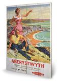 Aberystwyth Wood Sign Targa di legno
