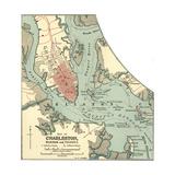 Map of Charleston (C. 1900), Maps Giclée-Druck von  Encyclopaedia Britannica