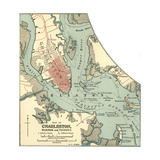 Map of Charleston (C. 1900), Maps Giclee Print by  Encyclopaedia Britannica