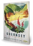 Guernsey Beach Wood Sign Træskilt