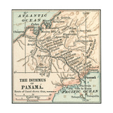Map of Central Panama (C. 1900) Giclee Print