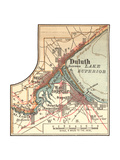 Inset Map of Duluth, Minnesota, 1902. Atlas Giclee Print by  Encyclopaedia Britannica