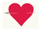 Heart With Arrow Posters by Jorey Hurley