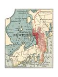 Map of Newport (C. 1900), Maps Gicléedruk van  Encyclopaedia Britannica