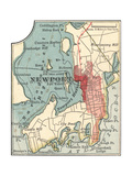 Map of Newport (C. 1900), Maps Giclee Print by  Encyclopaedia Britannica