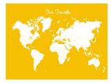 Our Travels Mustard Affiches par Samantha Ranlet