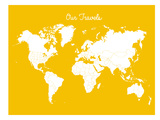 Our Travels Mustard Prints by Samantha Ranlet