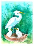 Heron Prints by Suren Nersisyan